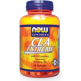 Now CLA Extreme 750 mg,   Herbs Φόρμουλα Αδυνατίσματος με CLA,   Πράσινο Τσάι - 90 softgels