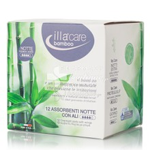 Illa Care Bamboo Notte - Σερβιέτες Νύχτας με Ύφασμα Bamboo, 12τμχ.