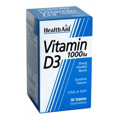 Health Aid Vitamin D3 1000iu 30 ταμπλέτες
