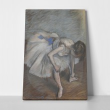 Dancer seated degas a
