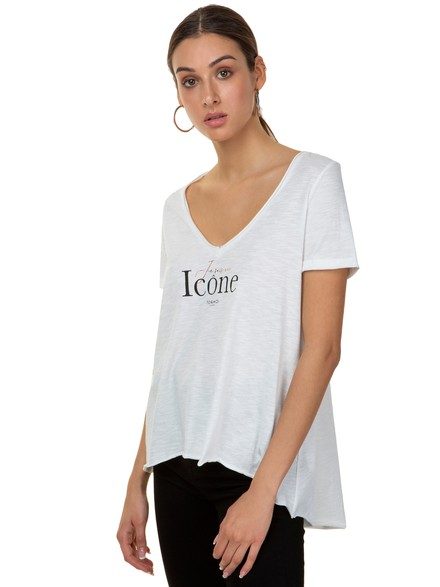 Asymnmetrical top with logo