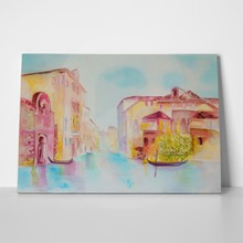 Venice cityscape original modern painting on silk 261205223 a