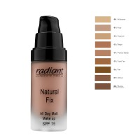 RADIANT NATURAL FIX ALL DAY MATT MAKE UP SPF15 30ML No8-MOCCA