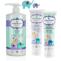 PHARMASEPT - PROMO PACK BABY CARE Mild Bath 2in1 - 1000ml, Extra Calm Cream - 150ml & Soothing Cream - 150ml