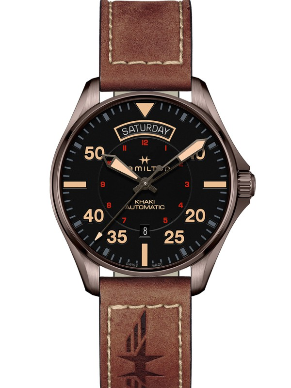 Khaki Aviation Pilot Day-Date