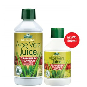 Optima aloe pura juice cranberry