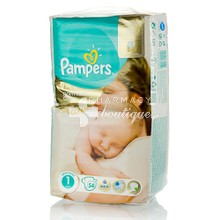 Pampers No.1 (2-5 kg) - New Baby Premium Care, 54τμχ.