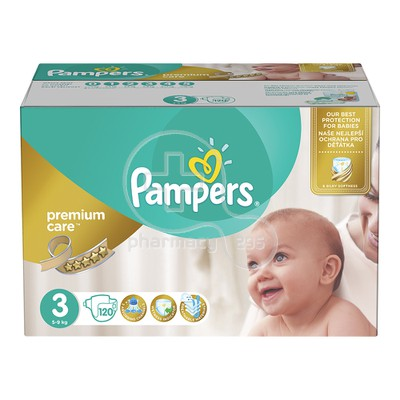 PAMPERS - PREMIUM CARE No3 (5-9kg) - 120 πάνες