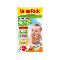 BABYLINO - VALUE PACK Babylino Sensitive Maxi No4 (7-18 Kg) - 50 πάνες