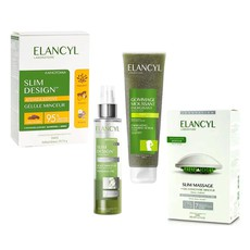 Elancyl Slim Design Huile Minceur 150ml & Slim Massage Συσκευή Μασάζ + Slimming Concentrate Gel 200ml & Energizing Foaming Scrub 150ml & Slim Design Gellule Minceur 60Caps.