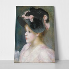 Renoir girl in pink black hat 747216421 a