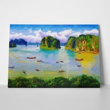 Bay thailand oil painting 72537613 a