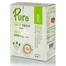 Pure Sweet Touch Green Stevia - Αδυνάτισμα, 80 sticks (80gr)