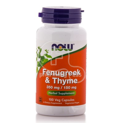 NOW - Fenugreek & Thyme 350mg/150mg - 100caps