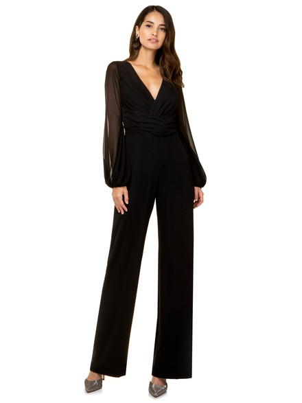 Jumpsuit with balloon sleeves