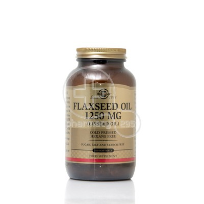 SOLGAR - Flaxseed Oil (Cold Pressed) 1250mg - 100softgels