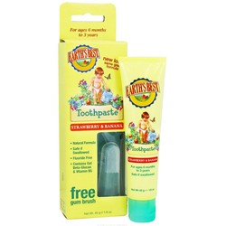 Earth's Best Toothpaste Baby Tooth Paste Banana & Strawberry 45gr