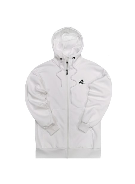TONY COUPER WHITE BACK STAMP ZIP THROUGH HOODIE