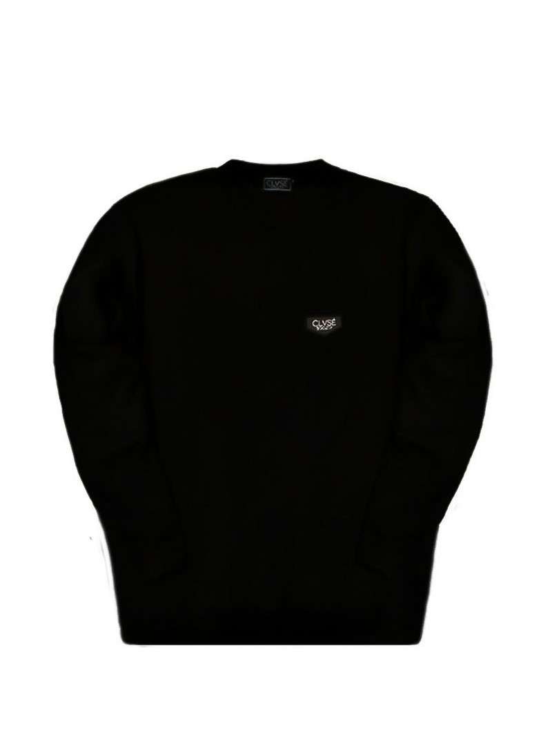 CLVSE SOCIETY BLACK PATCH SWEATSHIRT
