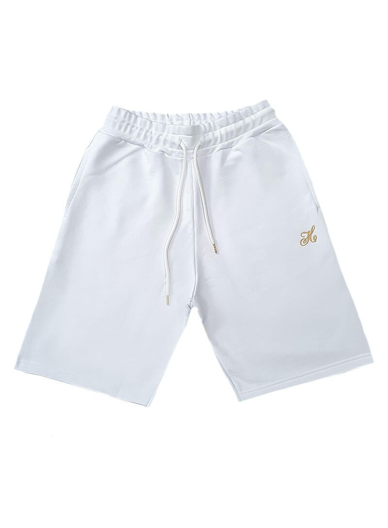 HENRY CLOTHING WHITE LOGO SHORTS