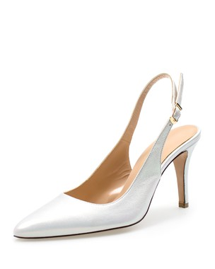 LEATHER SLINGBACK, HIGH HEEL - ANASTAZI BOURNAZOS