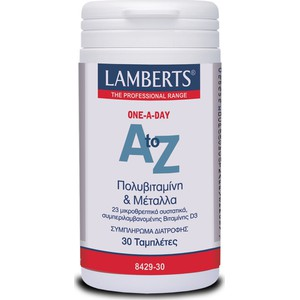 Lamberts a to z multivitamins 30 tabs