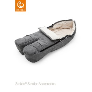 Stokke Foot Muff Black Melange