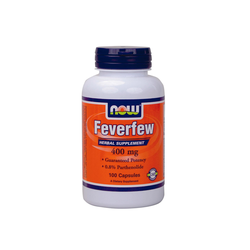 Now Foods Feverfew 400mg 0.8 Parthenolide 100 Φυτικές Κάψουλες