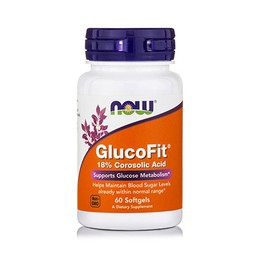 Now Foods GlucoFit 8% Corosolic Acid 60 Softgels