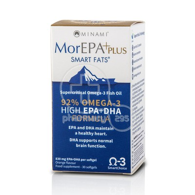 MINAMI - MorEPA Plus Smart Fats 92% Supercritical Omega-3 Fish Oil - 30softgels