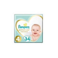 Pampers Premium Care Diapers Size 4 (9-14kg) 34 Diapers