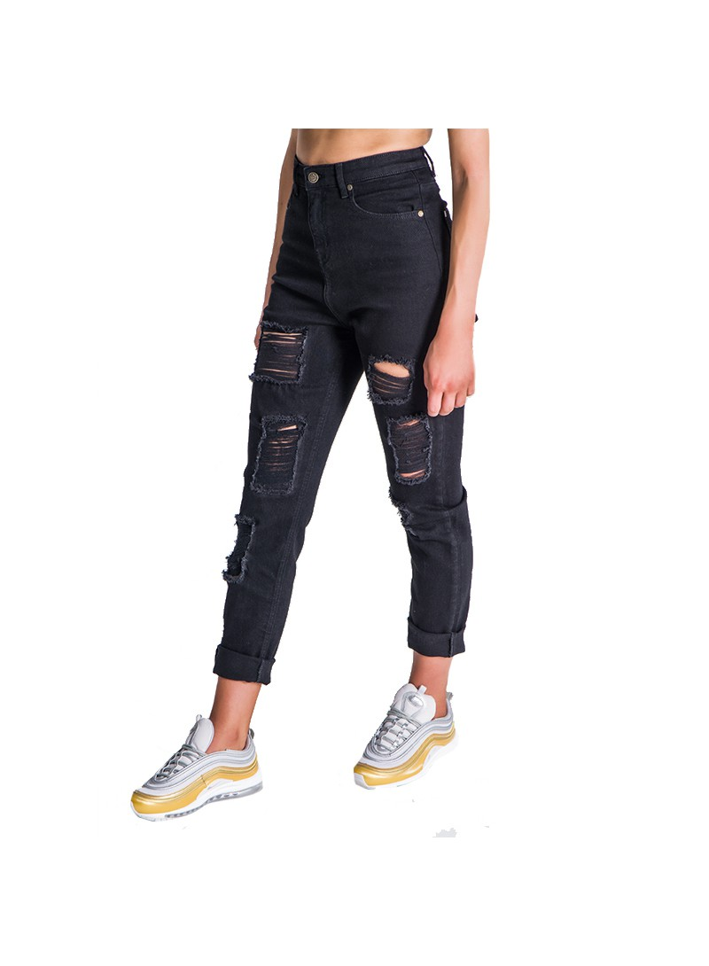 Gianni Kavanagh Black Ripped Mom Jeans