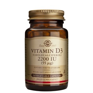 Solgar vitamind3 2200iu 50vegetable capsules