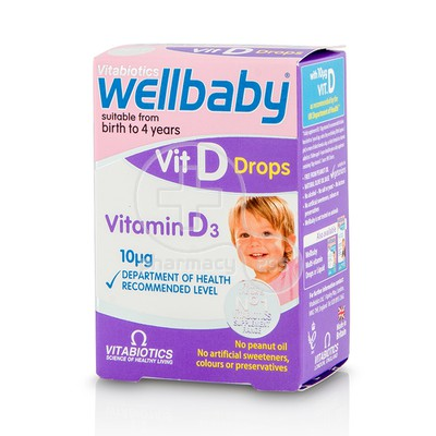 VITABIOTICS - WELLBABY Vit D Drops - 30ml