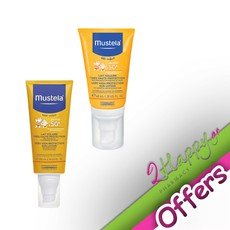 Mustela Very High Protection Face Sun Lotion SPF50+ Βρεφικό Αντηλιακό Γαλάκτωμα για το Πρόσωπο 40ml + Very High Protection Sun Lotion SPF50+ Γαλάκτωμα Πολύ Υψηλής Προστασίας για Σώμα/Πρόσωπο 200ml. Σετ αντηλιακής προστασίας για βρέφη και παιδιά.