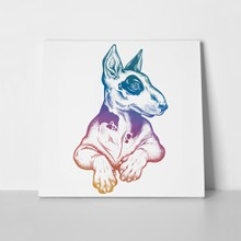 Vintage style beautiful bull terrier 737293102 a