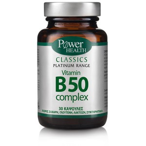 POWER HEALTH Classics platinum range vitamin B50 complex 30caps