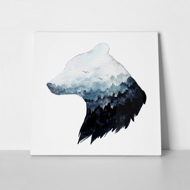 Double exposure watercolor bear 772623031 a