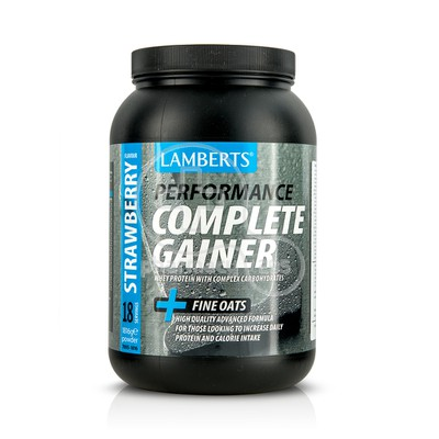 LAMBERTS - PERFORMANCE Complete Gainer + Fine Oats (Strawberry Flavour) - 1816gr