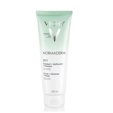 Vichy normaderm 3 in 1 exfoliant   nettoyant   masque   125ml