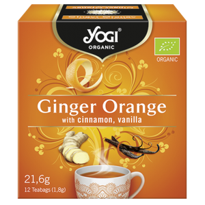 Yogi organic tea ginger orange