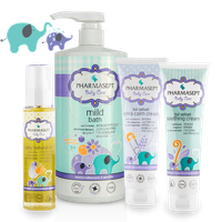 PHARMASEPT - PROMO PACK BABY CARE Mild Bath 2in1 - 1000ml, Extra Calm Cream - 150ml, Soothing Cream - 150ml & Natural Oil - 100ml