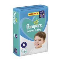 PAMPERS ACTIVE BABY No6 (13-18 KG) MAXI PACK (44TEM)