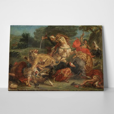 Delacroix lion hunt 2