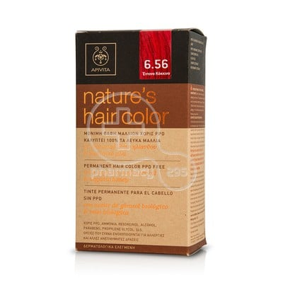 APIVITA - NATURE'S HAIR COLOR N6.56 Βαθύ Κόκκινο