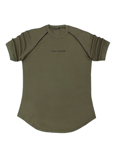 TONY COUPER KHAKI STRIPES T-SHIRT