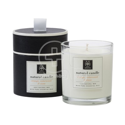 APIVITA - NATURAL CANDLE Orange, Cedarwood & Clove - 235gr