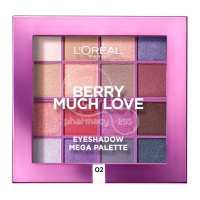 L'OREAL PARIS - BERRY MUCH LOVE Eyeshadow Mega Palette No02 - 17gr
