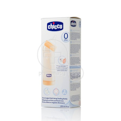 CHICCO - WELL BEING First Angled Feeding Bottle - 250ml Cod. 00 060039 000 030