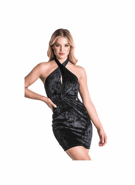 Gianni Kavanagh Black Velvet Party Season Dress